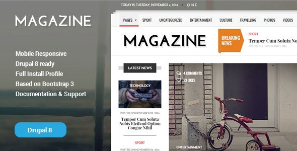 [Free Download] Gazeta – News & Magazine Drupal 8 Theme (Nulled) [Latest Version]
