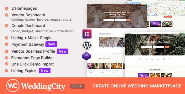 Free Download Weddingcity Directory Listing Wordpress Theme Nulled Latest Version Bignulled