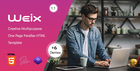 Weix – One Page Parallax (Nulled) [Latest Version] thumbnail