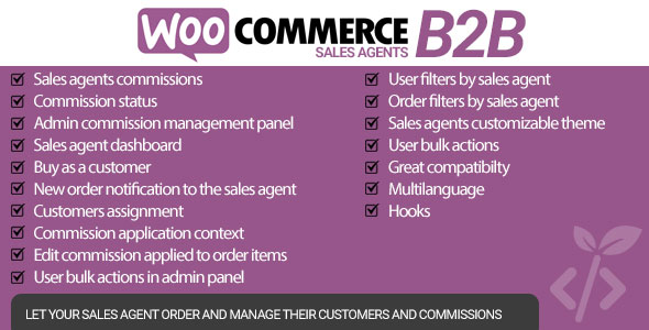 [Free Download] WooCommerce B2B Sales Agents (Nulled) [Latest Version]