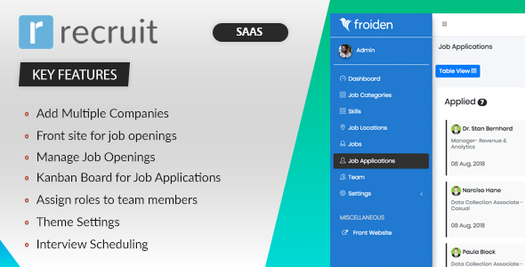 Recruit SAAS – Recruitment Manager (Nulled) [Latest Version] thumbnail