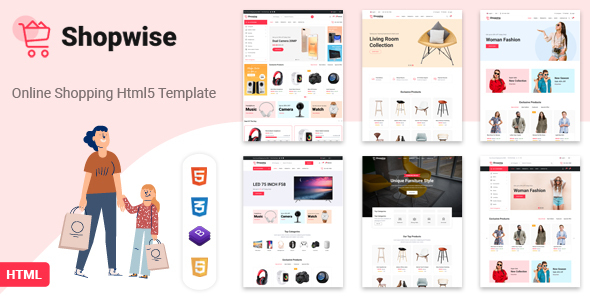 Shopwise – eCommerce Bootstrap 4 HTML Template (Nulled) [Latest Version] thumbnail