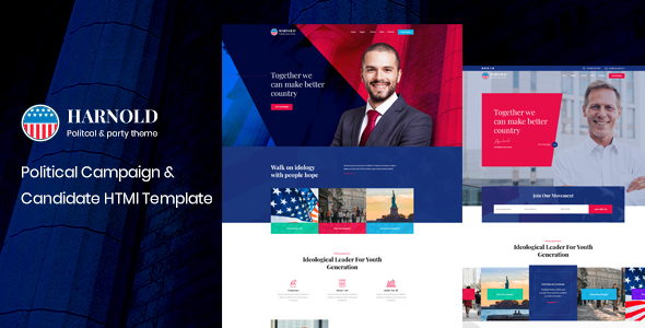 Harnold – Political Campaign HTML Template (Nulled) [Latest Version] thumbnail