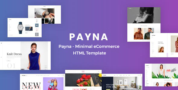 Payna – Minimal eCommerce HTML Template (Nulled) [Latest Version] thumbnail