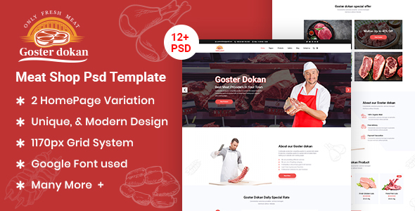 Goster Dokan – Meat Shop PSD Template (Nulled) [Latest Version] thumbnail