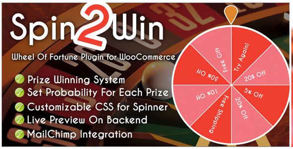 Spider Spin2Win WooCommerce Coupon Code (Nulled) [Latest Version] thumbnail