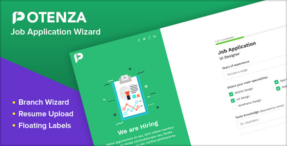 Potenza – Job Application Form Wizard (Nulled) [Latest Version] thumbnail