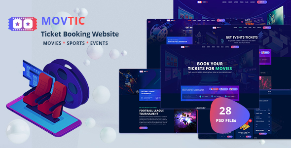 Movtic – Online Ticket Booking Website PSD Template (Nulled) [Latest Version] thumbnail