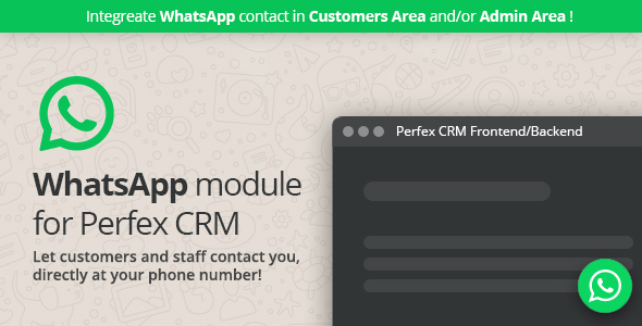 [Free Download] WhatsApp module for Perfex CRM (Nulled) [Latest Version]