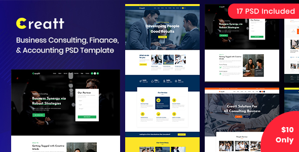 Creatt – Consulting PSD Template (Nulled) [Latest Version] thumbnail