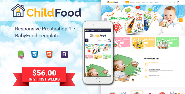 ChildFood – Adorable Baby Shop PrestaShop Theme (Nulled) [Latest Version] thumbnail
