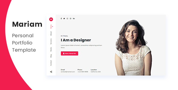Mariam – Personal Portfolio Template (Nulled) [Latest Version] thumbnail