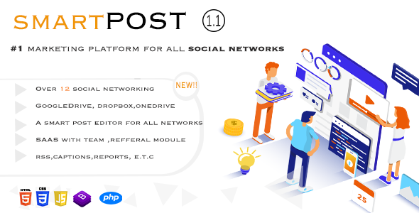 [Free Download] Smart Post – Social Marketing Tool (Nulled) [Latest Version]