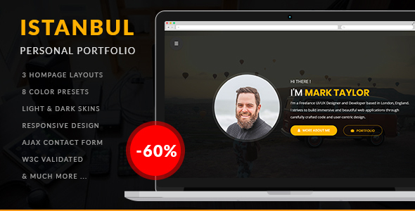 Istanbul – Personal Portfolio (Nulled) [Latest Version] thumbnail