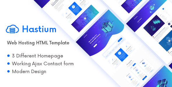 Hastium – Web Hosting and Technology HTML5 Template (Nulled) [Latest Version] thumbnail
