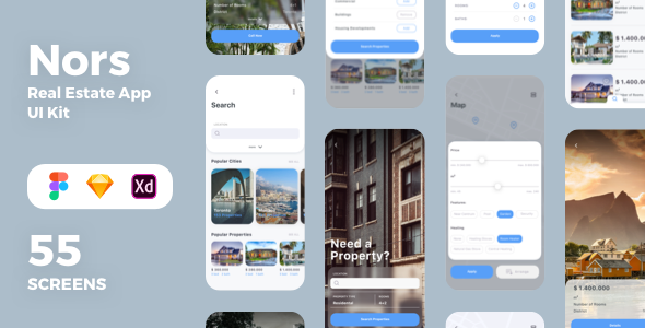 Nors Real Estate App UI Kit (Nulled) [Latest Version] thumbnail