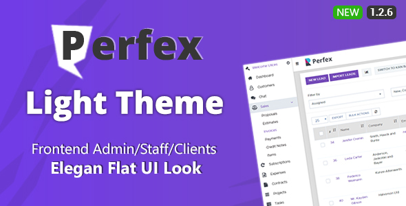 [Free Download] Perfex CRM Light Theme (Nulled) [Latest Version]