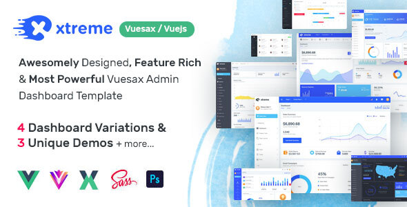 Xtreme Vuesax Admin Template (Nulled) [Latest Version] thumbnail