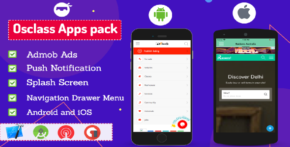 [Free Download] Osclass Android and iOS App Pack (Nulled) [Latest Version]