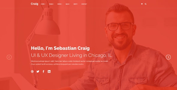 Free Download Craig Creative Services Portfolio Personal Landing Page Nulled Latest Version Bignulled