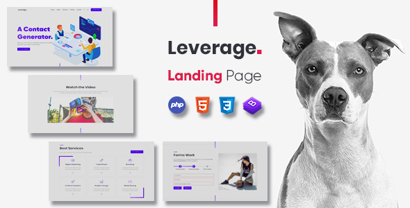 Leverage – One Page Website, App Showcase. Landing Page Template. (Nulled) [Latest Version] thumbnail