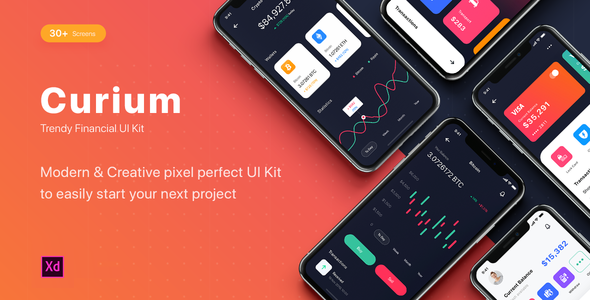 CURIUM – Financial UI Kit for Adobe XD (Nulled) [Latest Version] thumbnail