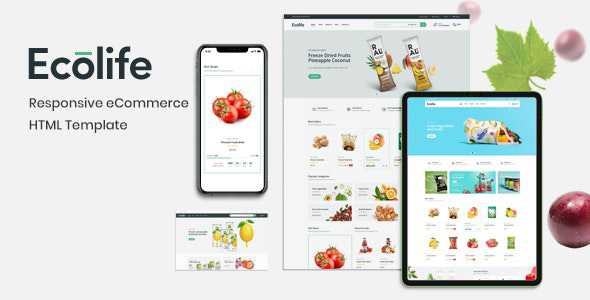 [Free Download] Ecolife – Multipurpose eCommerce HTML Template (Nulled) [Latest Version]