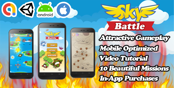 [Free Download] Sky Battle – Unity Action Game Template – Admob + Facebook Ads – Ready To Publish (Nulled) [Latest Version]