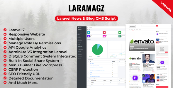 [Free Download] Laramagz – Laravel News & Blog CMS Script (Nulled) [Latest Version]