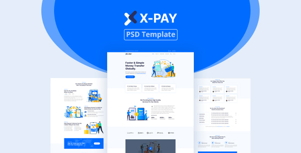 [Free Download] Xpay – Online Money Transfer & Banking PSD Template (Nulled) [Latest Version]