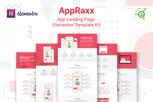 [Free Download] AppRaxx – App Landing Page Elementor Template Kit (Nulled) [Latest Version]