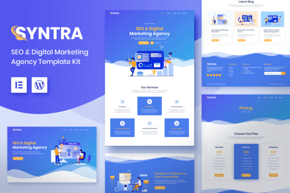 [Free Download] SYNTRA – SEO & Digital Marketing Agency Template Kit (Nulled) [Latest Version]