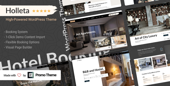 [Free Download] Holleta – Hotel Booking WordPress Theme (Nulled) [Latest Version]