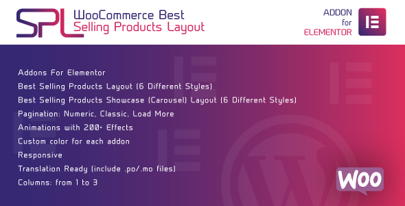 [Free Download] WooCommerce Best Selling Products Layout for Elementor – WordPress Plugin (Nulled) [Latest Version]