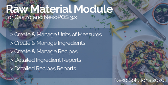 [Free Download] Raw Material – Ingredients Manager for Gastro (Nulled) [Latest Version]