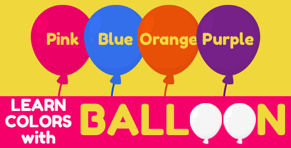 [Free Download] Learn Colors with Balloon (for Kids) (Nulled) [Latest Version]