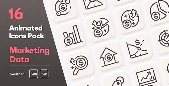 [Free Download] Marketing Data Diagram Animated Icons Pack – Lottie Json Animation SVG (Nulled) [Latest Version]