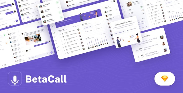 [Free Download] BetaCall – UI Kit for Communication Dashboards and Apps (Nulled) [Latest Version]