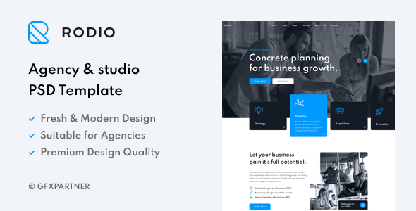 [Free Download] Rodio – Agency & Studio PSD Template (Nulled) [Latest Version]