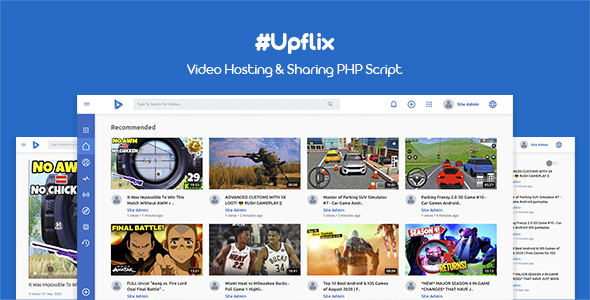 [Free Download] Upflix – Video Hosting & Sharing PHP Script (Nulled) [Latest Version]