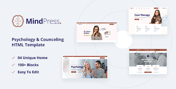 [Free Download] MindPress – Psychology & Counseling HTML5 Template (Nulled) [Latest Version]