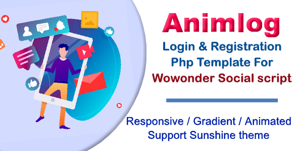 [Free Download] Animlog Login and Registration Template for wowonder Social PHP Script (Nulled) [Latest Version]