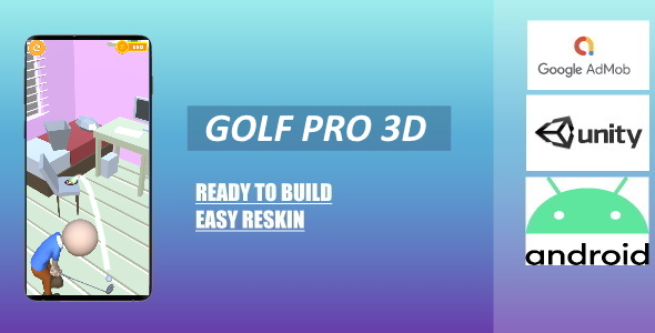 [Free Download] Golf Pro 3D (Unity – Admob) (Nulled) [Latest Version]