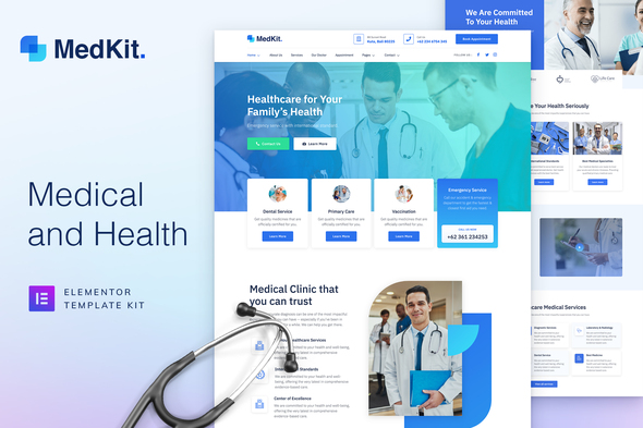 [Free Download] MedKit – Health & Medical Elementor Template Kit (Nulled) [Latest Version]