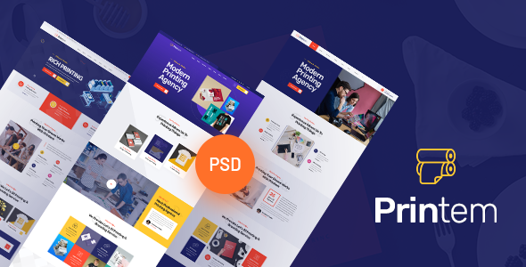 Free Download Printem Printing Company Psd Template Nulled Latest Version Bignulled