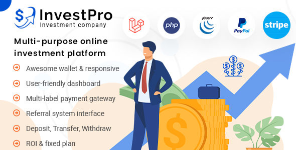 [Free Download] InvestPro – Wallet & Banking Online Investment Platform (Nulled) [Latest Version]
