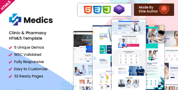 [Free Download] Medics – Clinic & Pharmacy HTML5 Template (Nulled) [Latest Version]