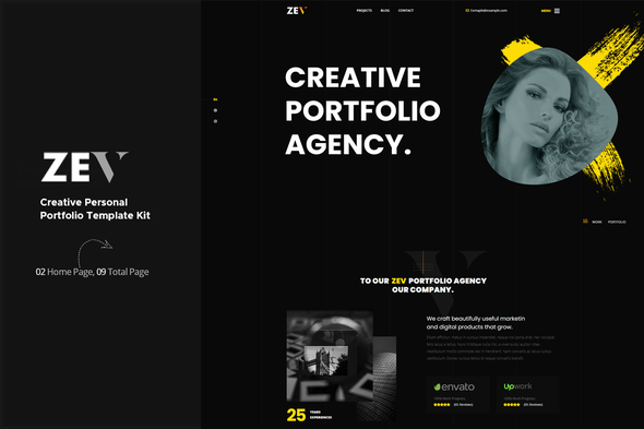 [Free Download] Zev – Creative Personal Portfolio Template Kit (Nulled) [Latest Version]