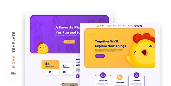 [Free Download] Kooki – Kindergarten Figma Template (Nulled) [Latest Version]