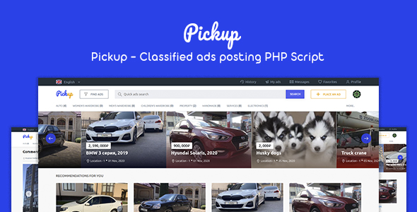 [Free Download] Pickup – Classified Ads Posting PHP Script (Nulled) [Latest Version]